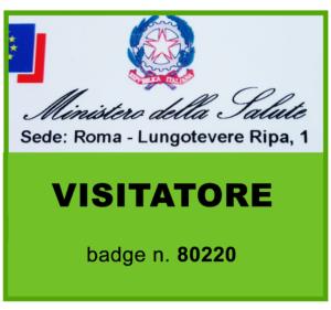 Badge Ministero salute